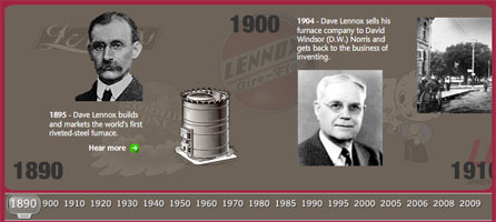 Lennox Interactive History of Innovation